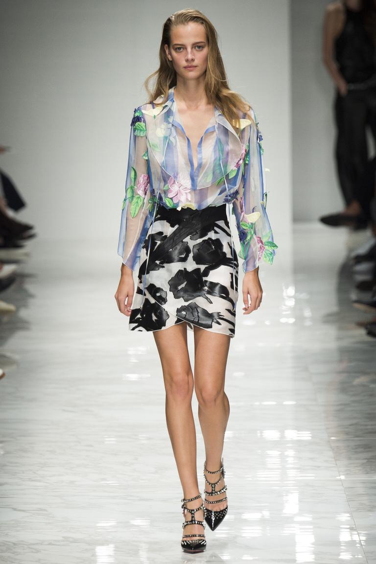 Цветная модная блузка 2016 – фото новинка от Blumarine