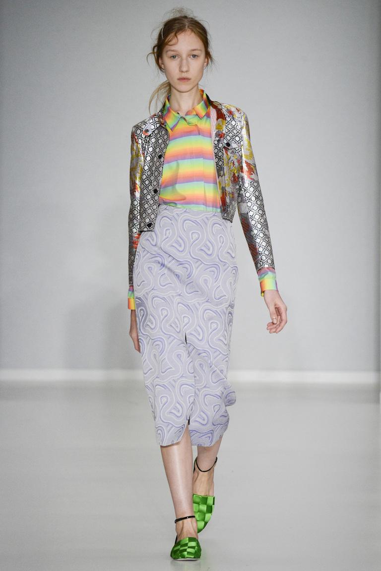 Модная цветная блузка 2016 в полоску – фото новинка в коллекции Marco de Vincenzo