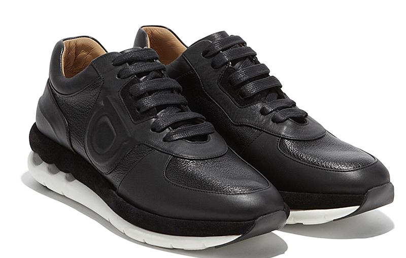 Модные черные женские кроссовки - фото новинка от Salvatore Ferragam