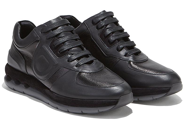 Модные черные женские кроссовки - фото новинка от Salvatore Ferragamo