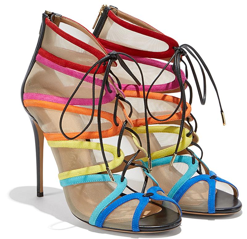 Разноцветные босоножки Salvatore Ferragamo – фото новинки сезона