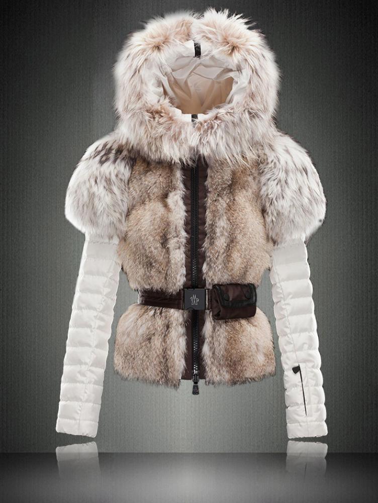 Фото модной женской куртки с мехом