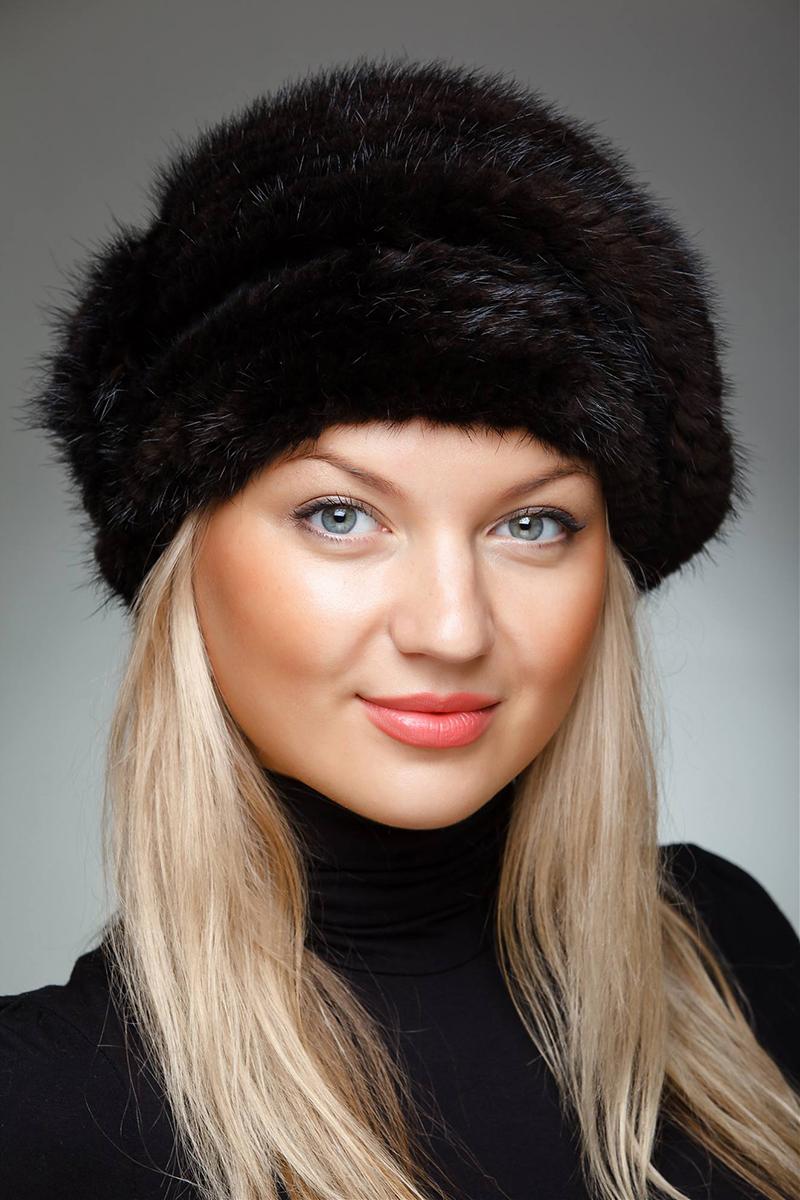 Женская норковая модная шапка – фото новинки сезона