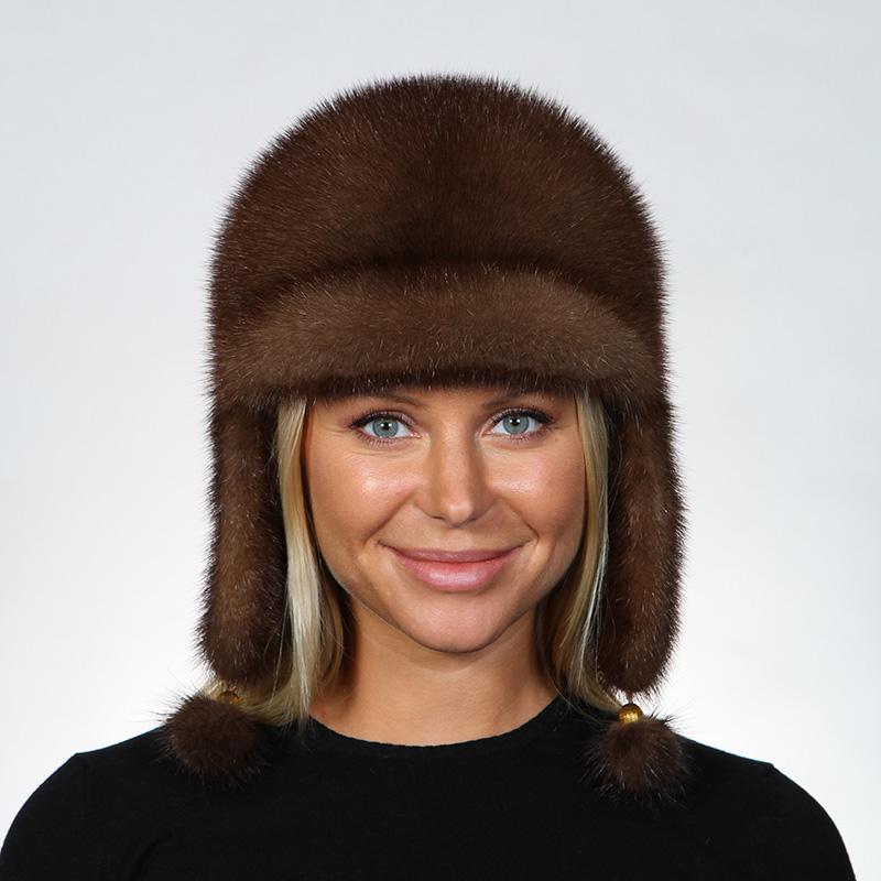 Фото новинки сезона: норковая женская шапка