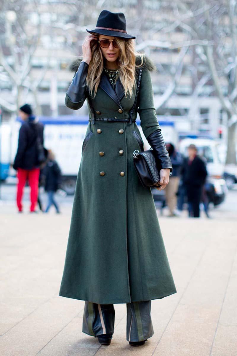 Фото новинка сезона: пальто милитари – с чем носить
