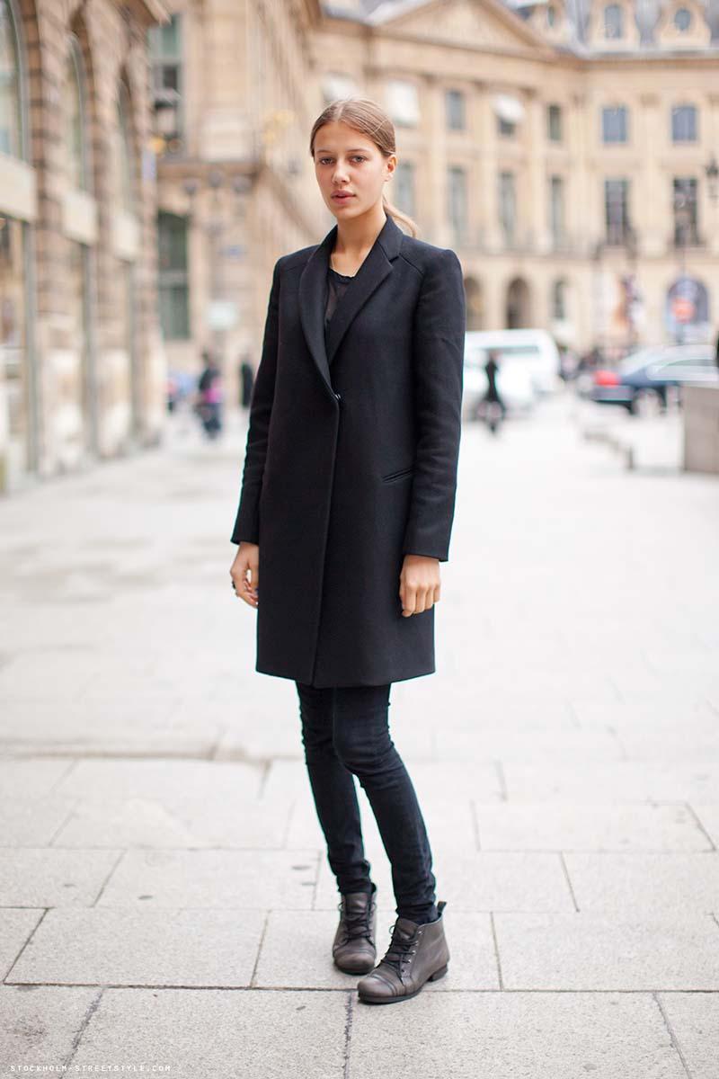 Варианты сочетания пальто