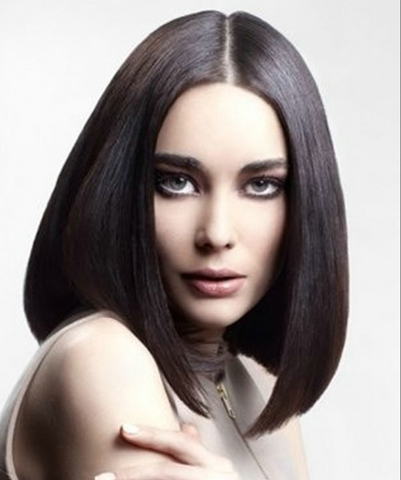 Фото новинка: модная стрижка на средние волосы 2016 – удлиненное каре