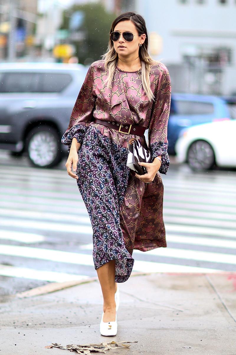 Модное платье в уличной моде 2016 – фото новинки сезона
