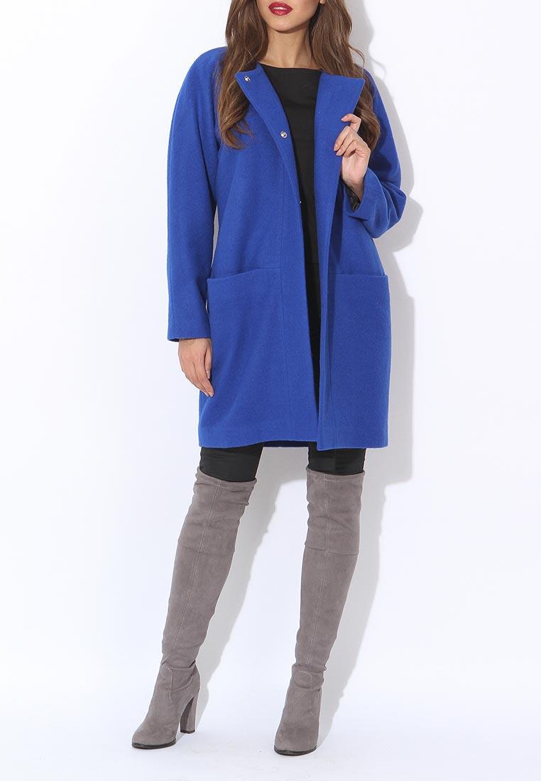 Модное синее пальто оверсайз Tutto Bene, средняя цена 9990 руб