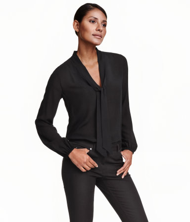 Блузка с завязками H&M Tie-neck Blouse, цена 35$