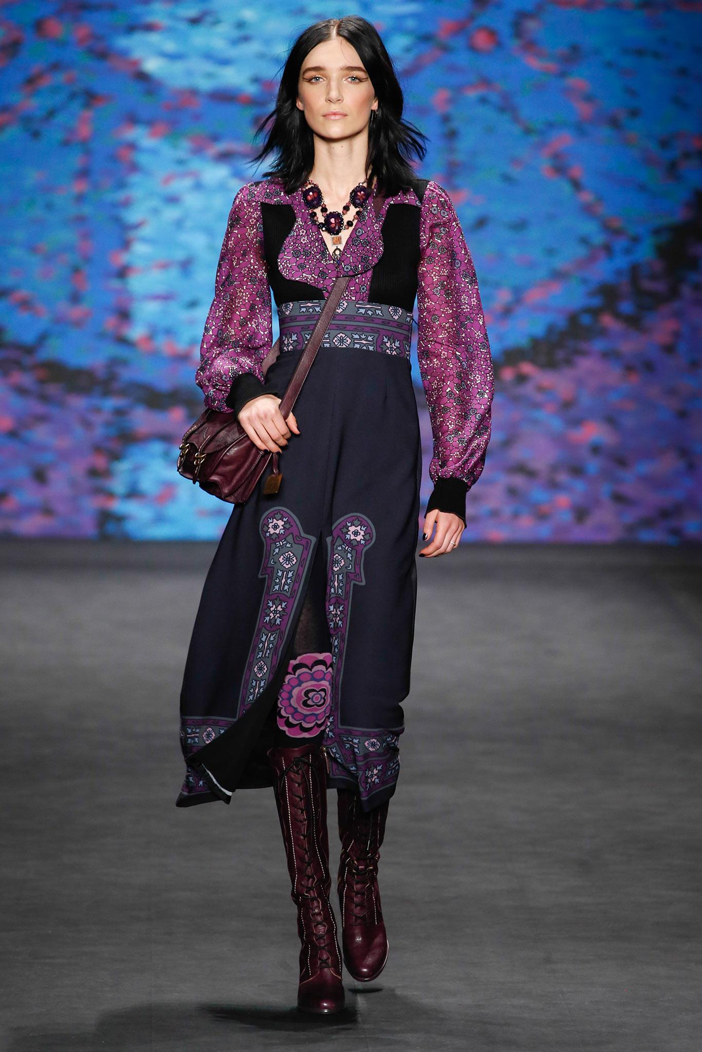 Бохо стиль – современный бохо шик в коллекции Anna Sui