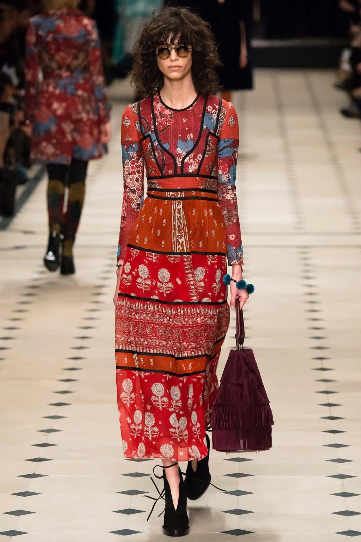Платье в стиле бохо в коллекции Burberyy Prorsum