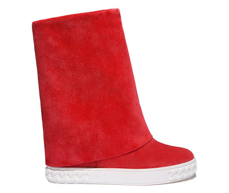 Красные модные сапоги Casadei
