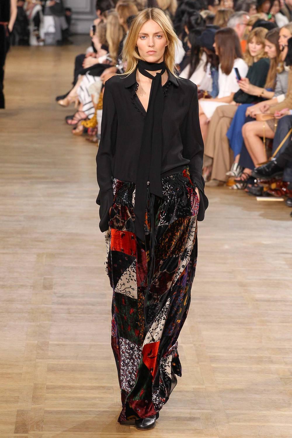 Блузка и длинная юбка в стиле бохо в коллекции Chloe