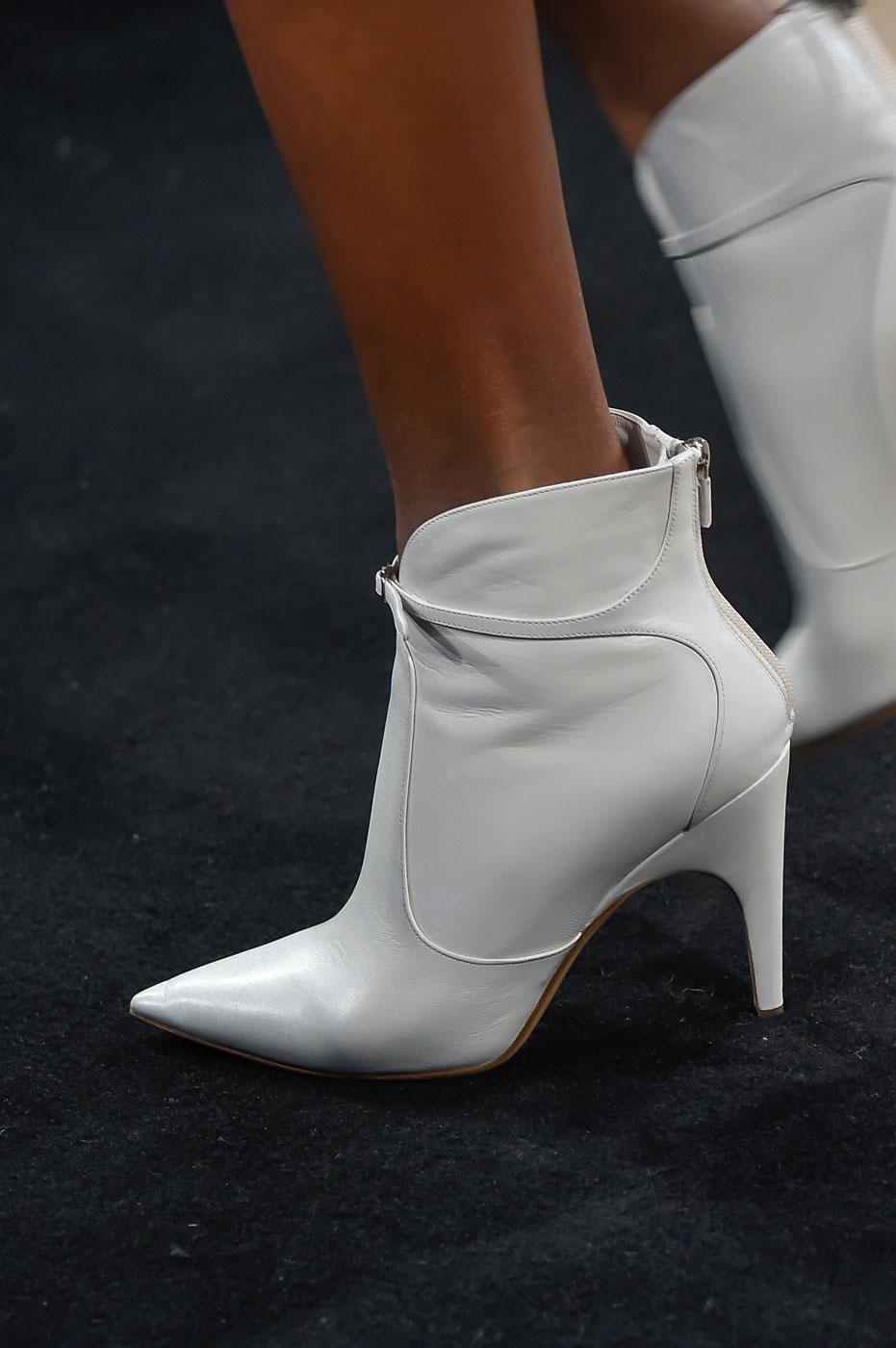 Белые ботильоны Derek Lam – неделя моды осень-зима 2016-2017 в Нью-Йорке