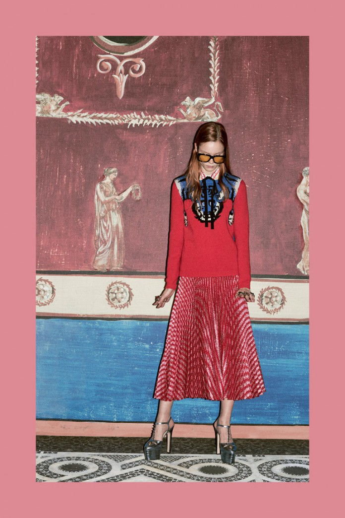 Стильный лук в ретро-стиле в коллекции Gucci