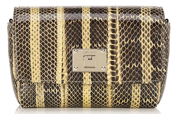 Модная сумка из змеиной кожи – фото новой коллекции Jimmy Choo