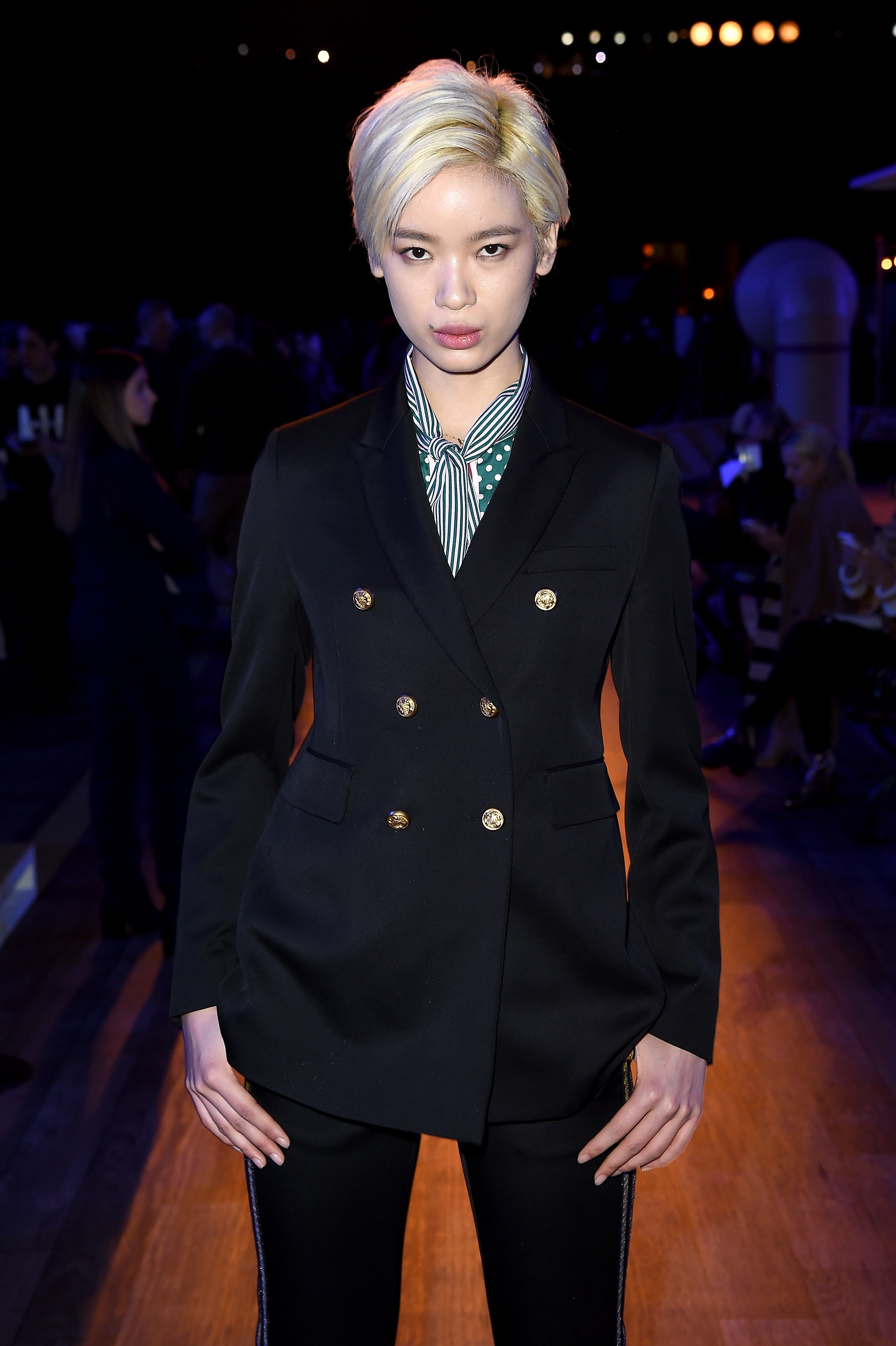 NEW YORK, NY - FEBRUARY 15: Model Kiki Kang attends the Tommy Hilfiger Women's Fall 2016 show durong New York Fashion Week: The Shows at Park Avenue Armory on February 15, 2016 in New York City. (Photo by Nicholas Hunt/Getty Images for Tommy Hilfiger)