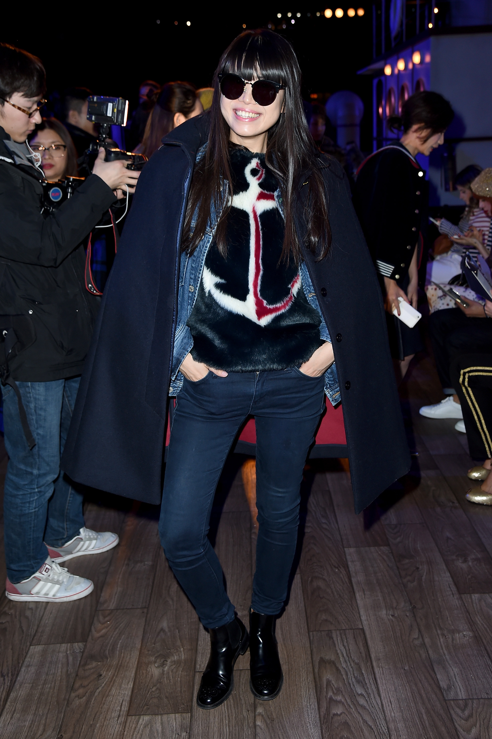 NEW YORK, NY - FEBRUARY 15: Leaf Greener attends the Tommy Hilfiger Women's Fall 2016 show durong New York Fashion Week: The Shows at Park Avenue Armory on February 15, 2016 in New York City. (Photo by Nicholas Hunt/Getty Images for Tommy Hilfiger)