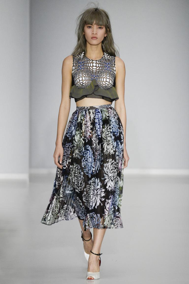 Модная юбка миди сезона весна-лето 2016 – фото новинка в коллекции Marco de Vincenzo
