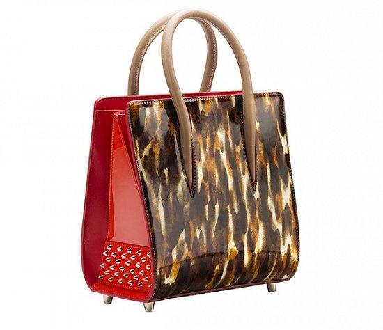 Оригинальное сочетание ярких красок и оригинальных узоров в коллекции сумок и туфель Christian Louboutin весна-лето 2016