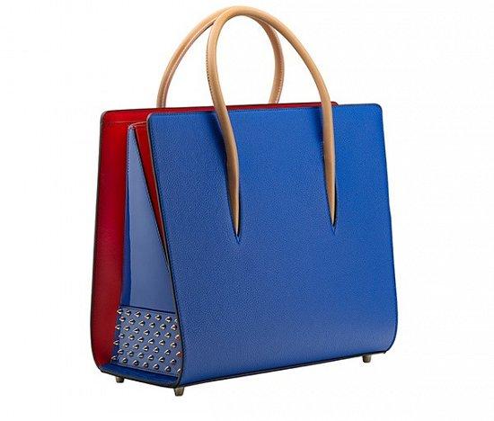 Синяя модная сумка Лабутены – фото новинки сезона весна-лето 2016