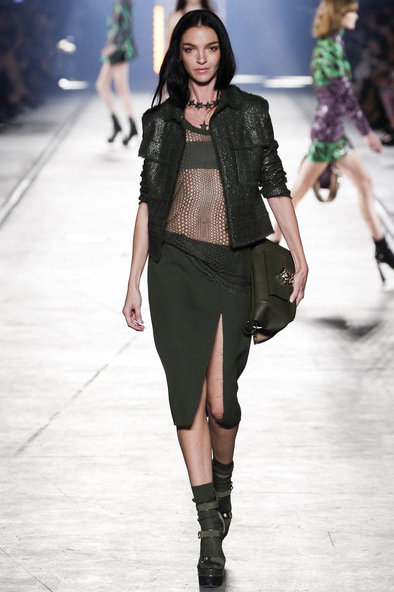 Модная юбка мили с разрезом весна-лето 2016 – фото новинка в коллекции Versace