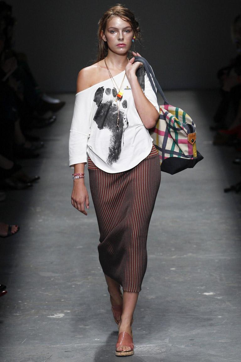 Фото новинка: модная прямая юбка весны и лета 2016 – коллекция Vivienne Westwood