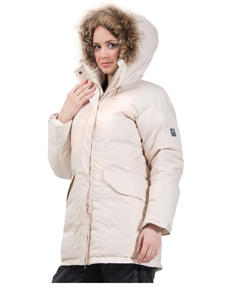Светлый вариант модной женской куртки аляски – фото новинки сезона