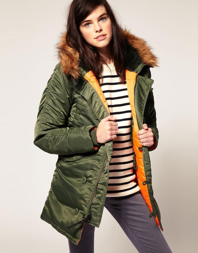 Модная женская зимняя куртка аляска – фото новинки сезона