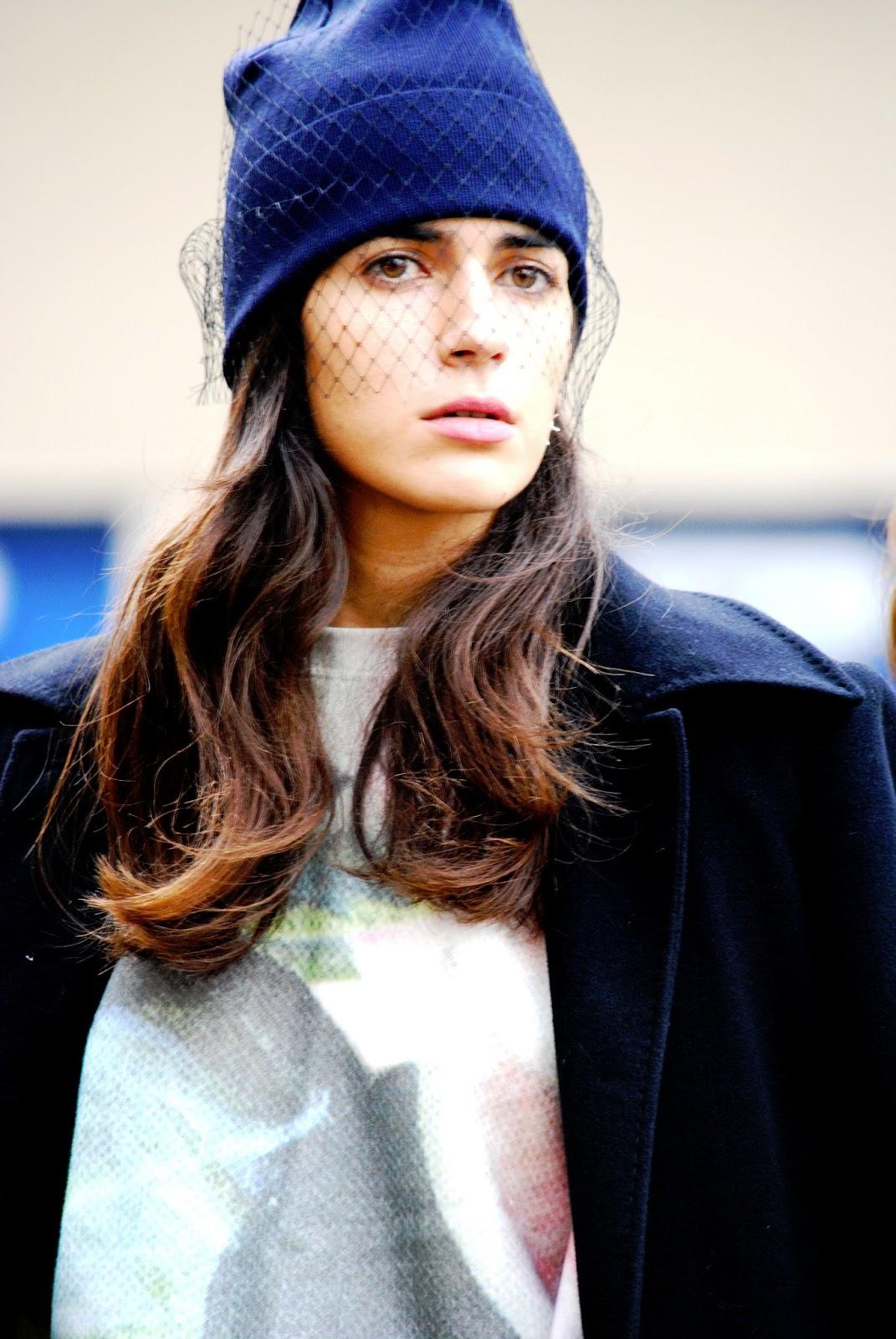 Модная шапка бини с вуалью – фото новинки и тренды сезона