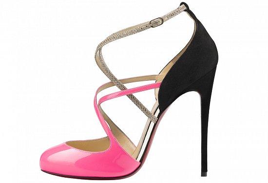 Черно-розовые туфли лабутены весна-лето 2016 – фото новинки коллекции