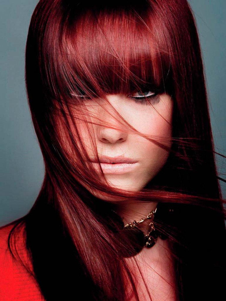 Цвет волос зимняя вишня
