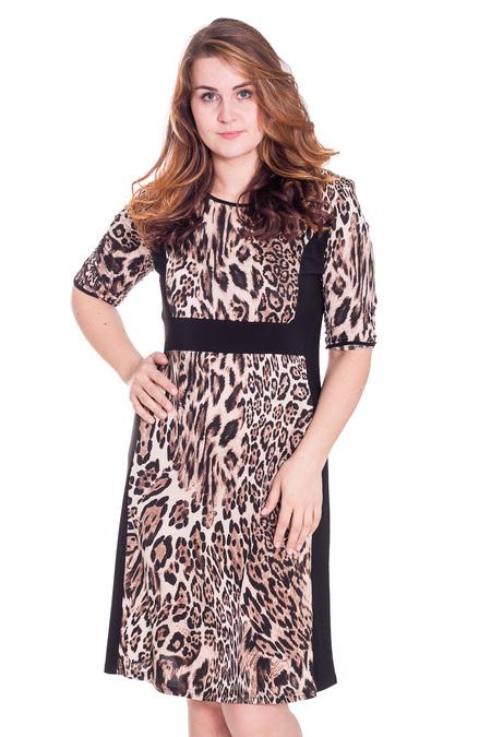 Платья больших размеров с леопардовым принтом