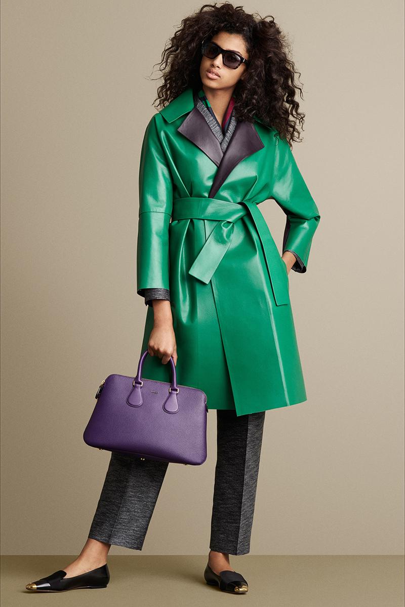 Модные кожаные пальто весна 2017 женские