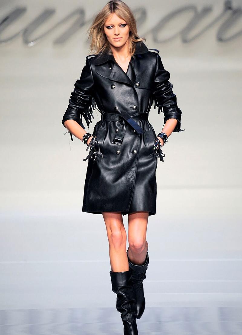 Черное короткое кожаное пальто – фото новинки и тренды сезона