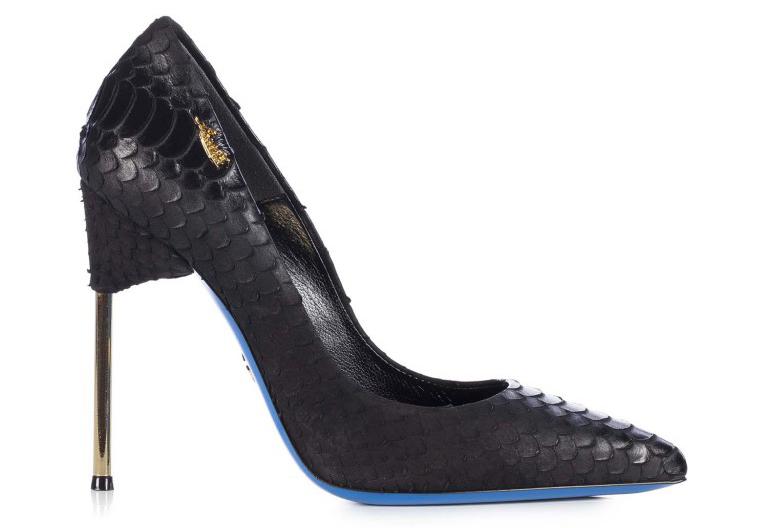 Изящные туфли лодочки с удивительной формой каблука от бренда Loriblu