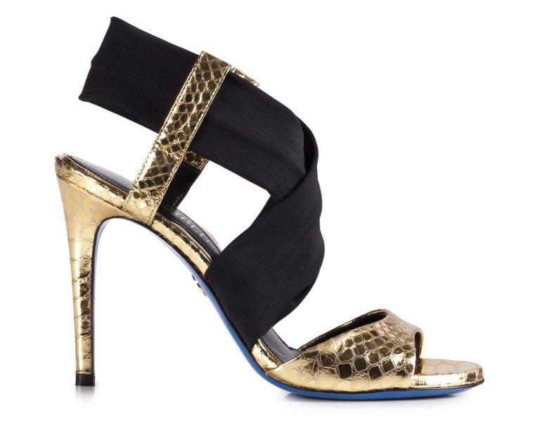 Золотистые босоножки Loriblu – королевская обувь, в которой каждая женщина чувствует себя богиней