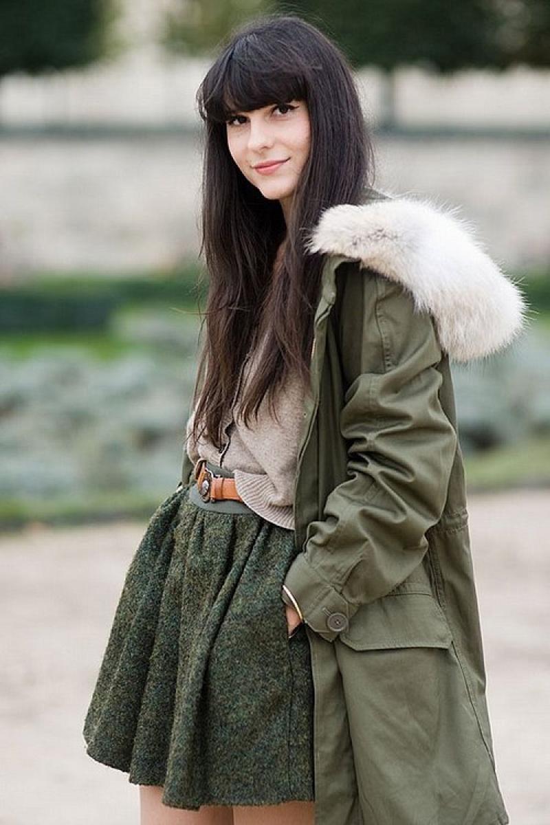 Модная женская зимняя меховая парка – фото новинки сезона