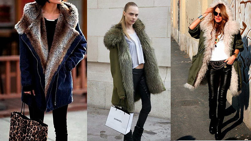 Модная зимняя куртка парка – легенда сезона! Варианты сочетание парки с другой одеждой.