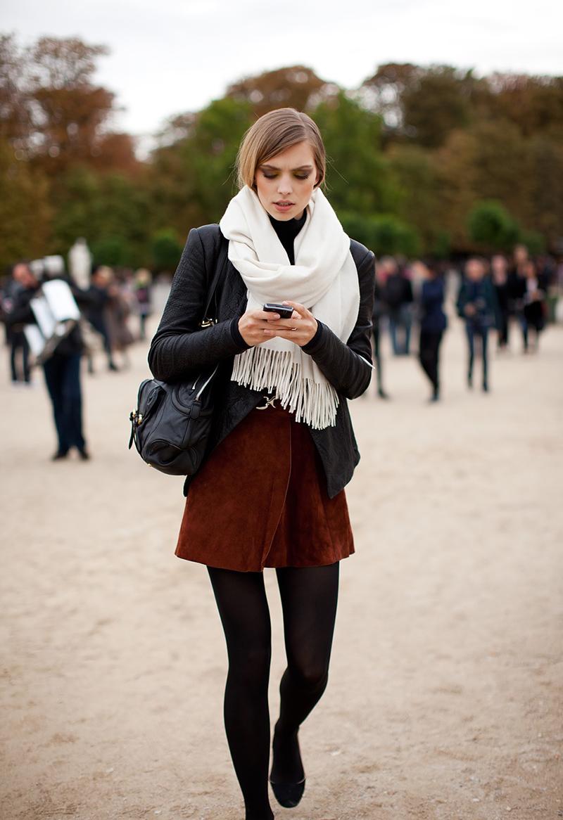Фото новинки: какие шарфы особенно популярны, и как модно их носить