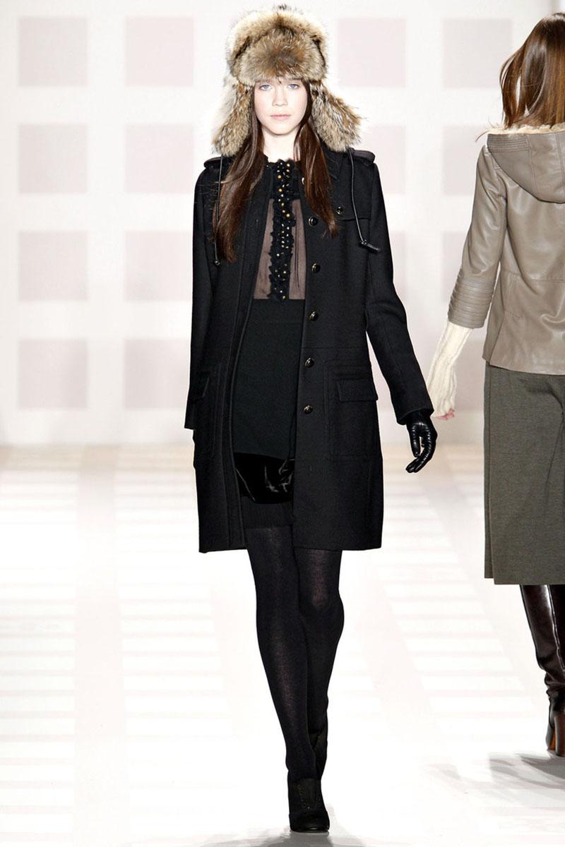 Сочетание шапки ушанки с пальто