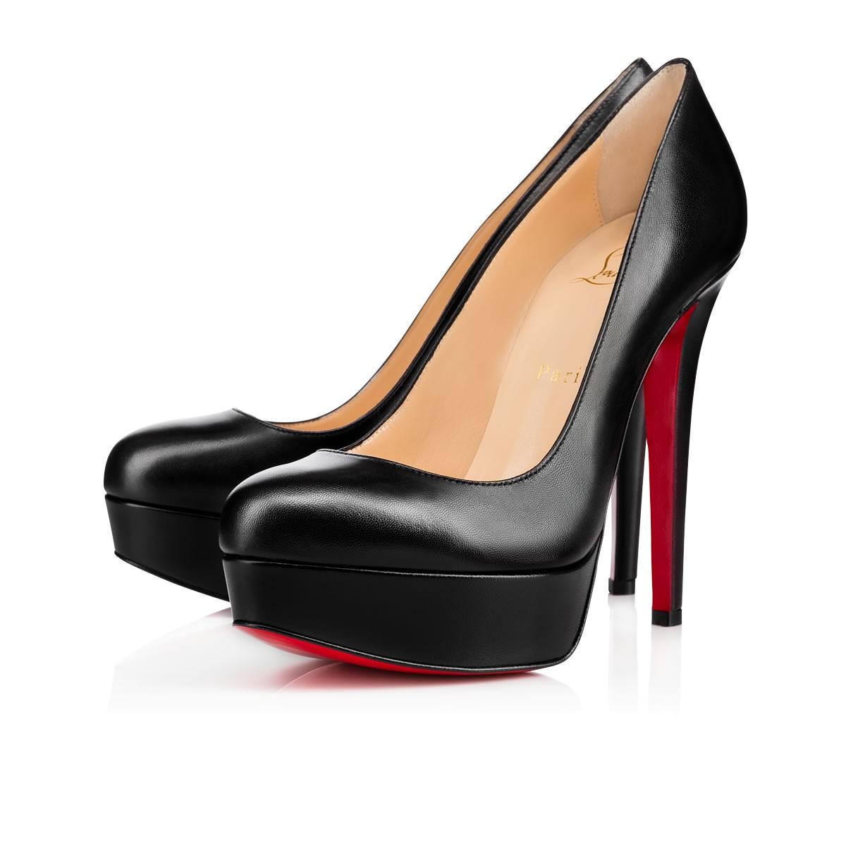 Черные женские туфли Лубутены Bianca