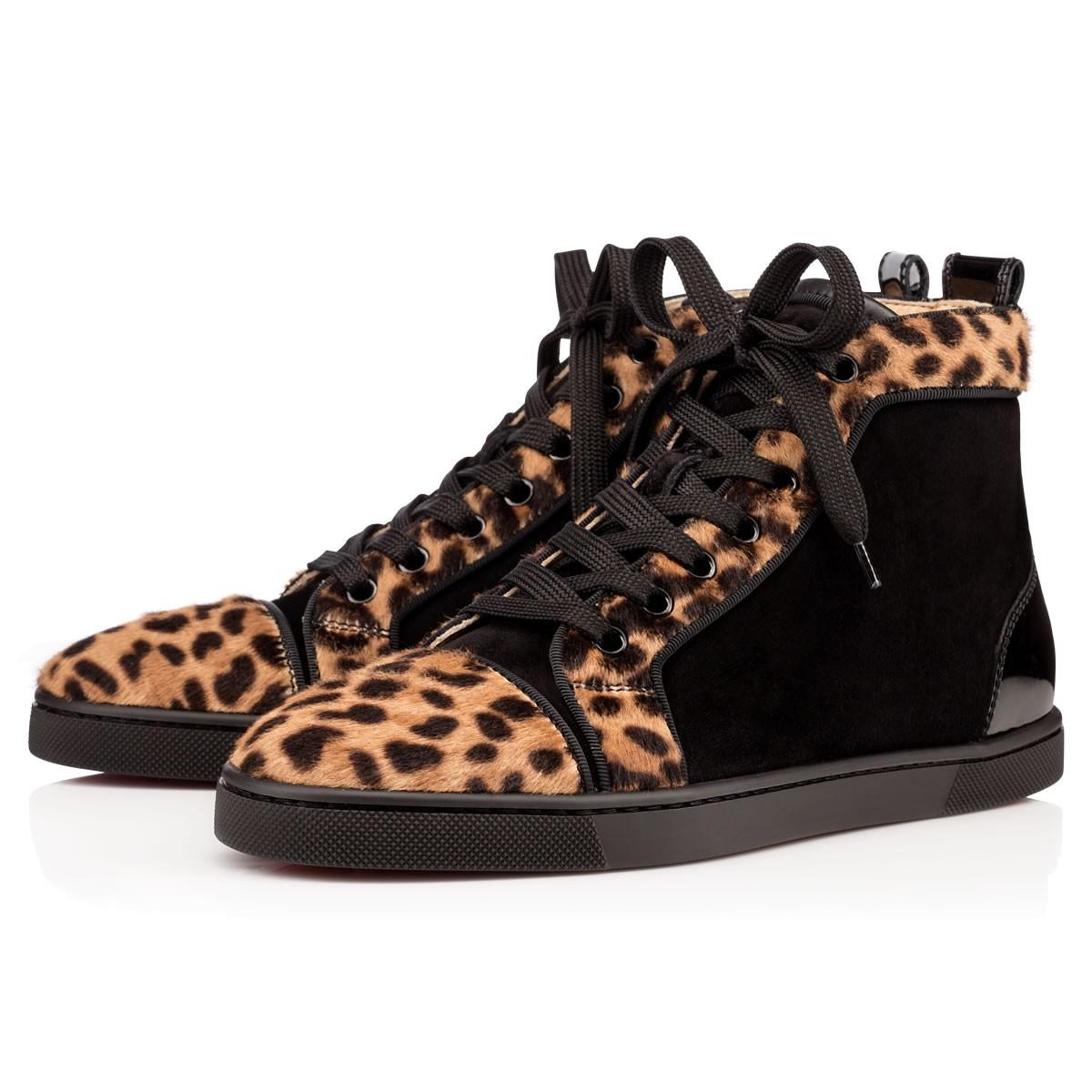 Леопардовые кеды Лабутены Bip Bip Women's Flat