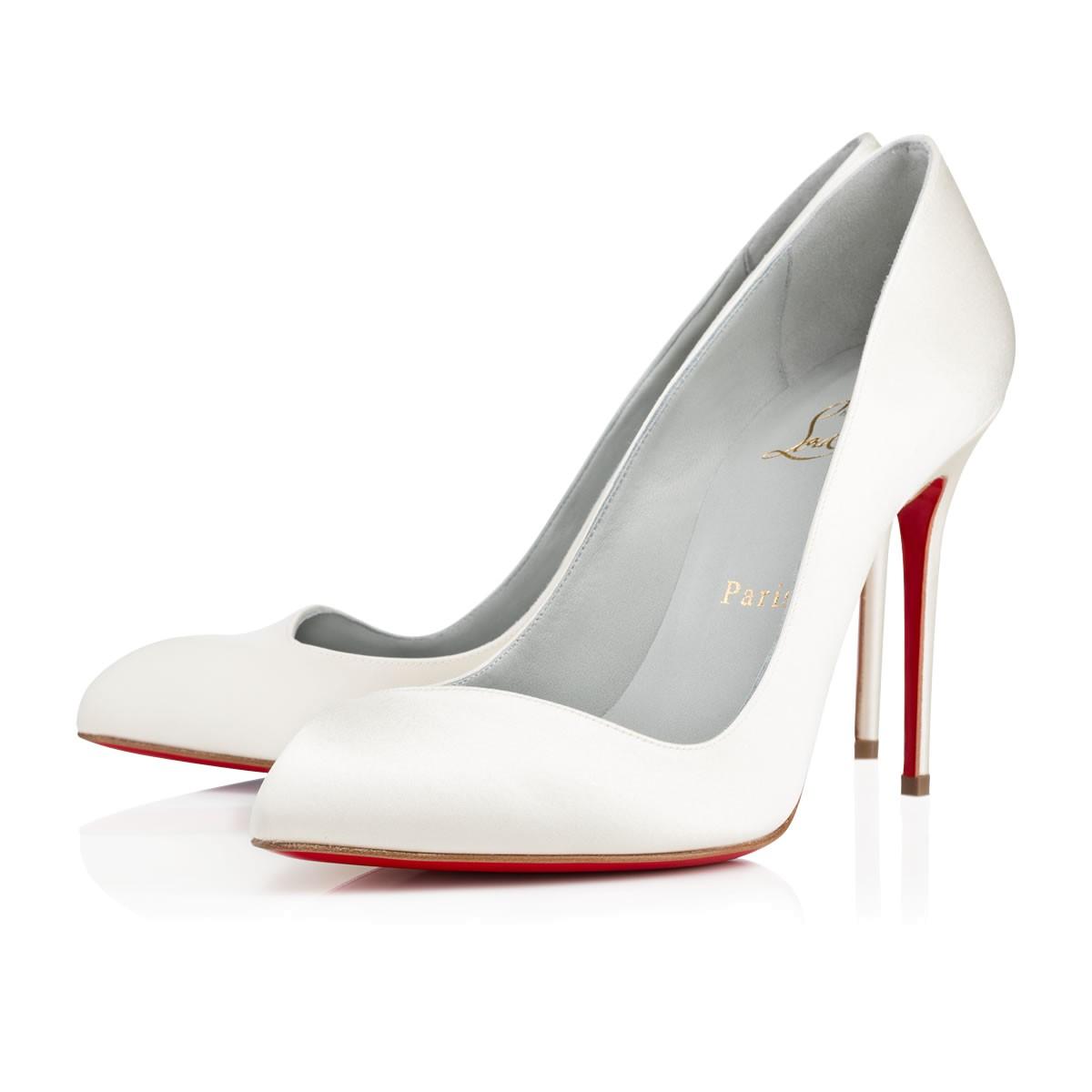 Белые туфли Лабутены Corneille