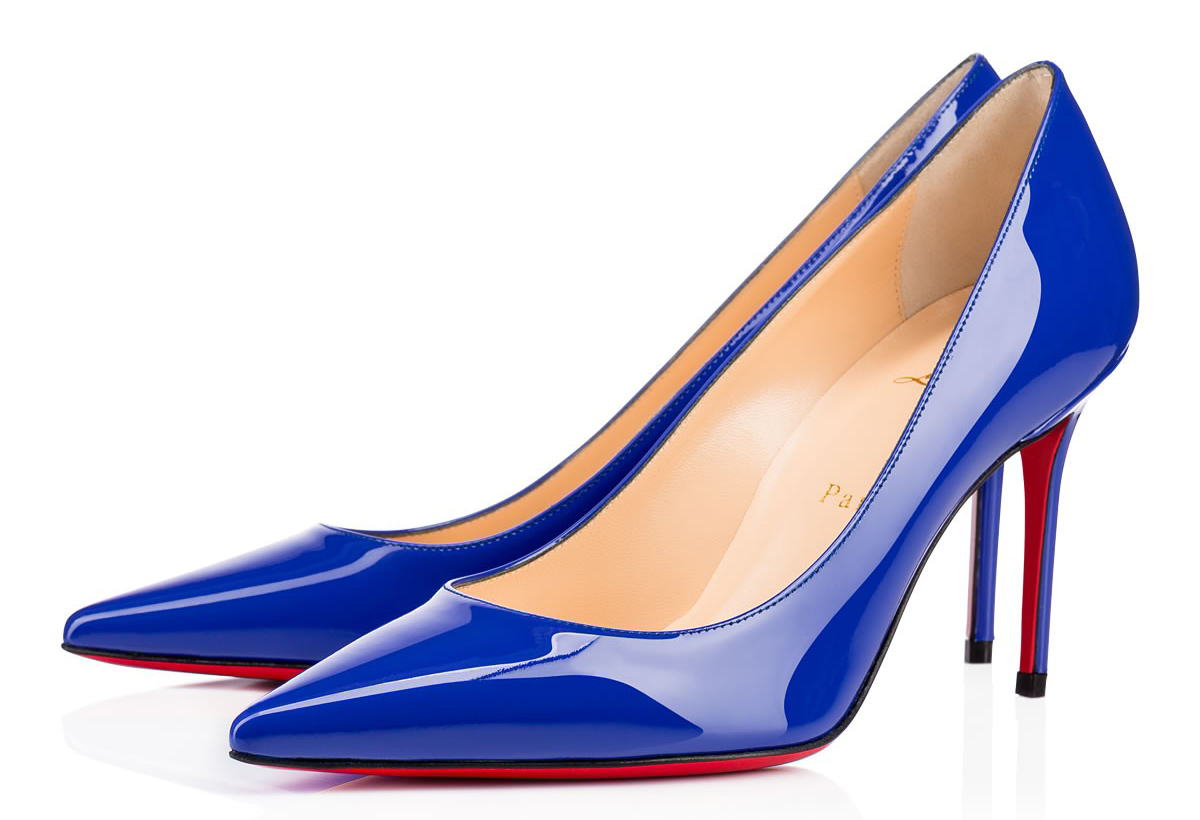 Синие туфли лабутены Decollete 554