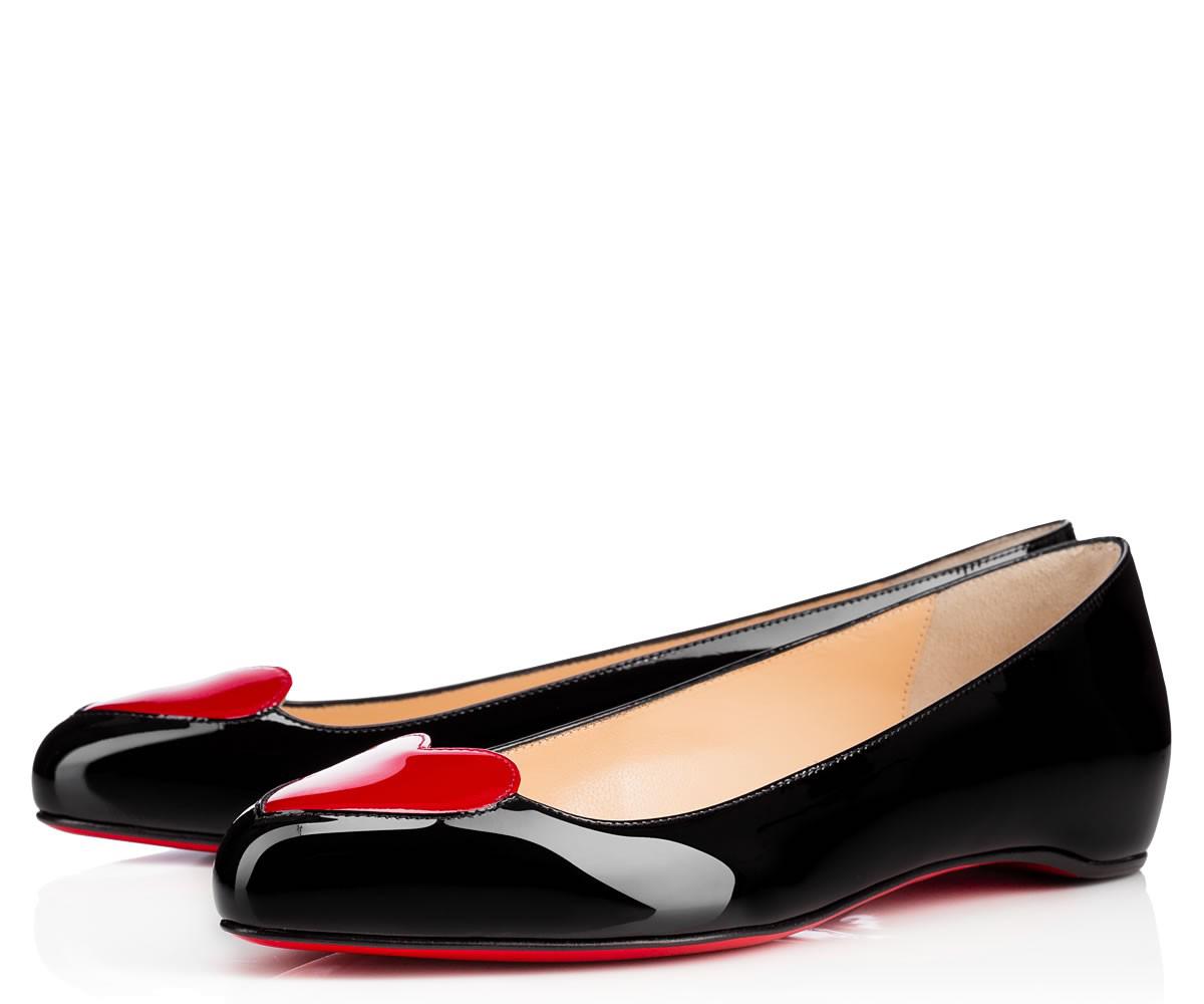 Черные балетки лабутены Doracora Flat