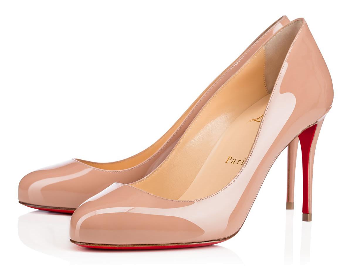 Бежевые туфли лабутены Dorissima