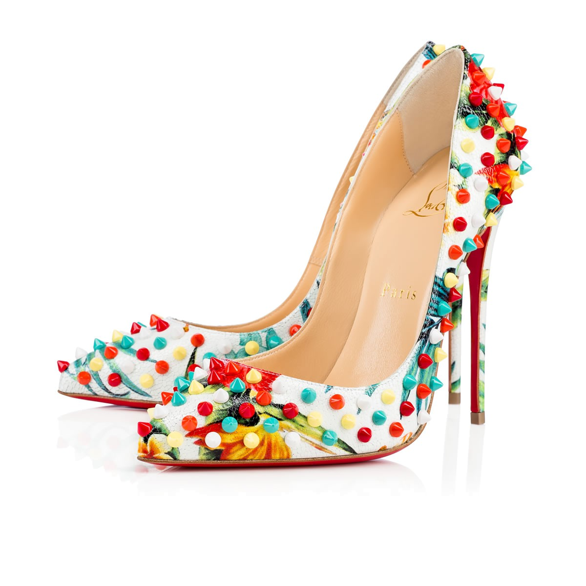 Туфли лабутены, модель Follies Spikes