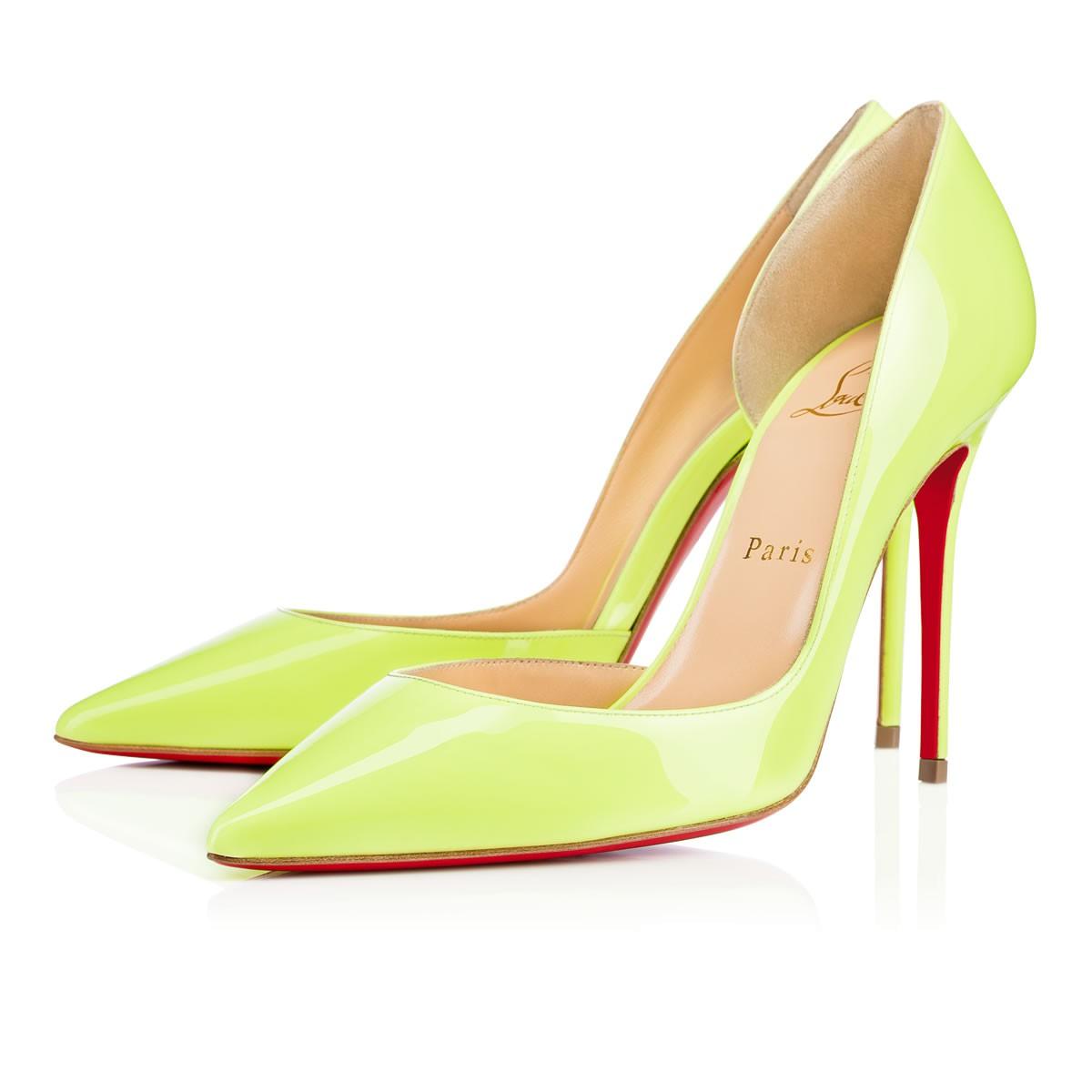 Салатовые туфли лабутены, модель Iriza